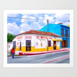 Tacos For Lunch In Chiapas Mexico Art Print