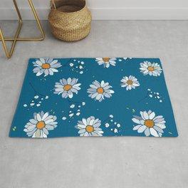 daises pattern Rug