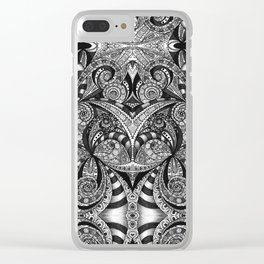 Drawing Floral Zentangle G6B Clear iPhone Case