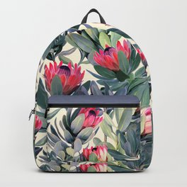 Painted Protea Pattern Backpack
