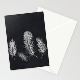 Chalk feather collection Stationery Cards