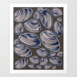 Night Oysters Art Print