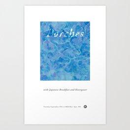 Porches W/ Japanese Breakfast and Rivergazer at Milk Run Art Print