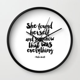 PRINTABLE Art,Quote,Girls Room Decor,Home Decor,Typography Art,girls room decor Wall Clock