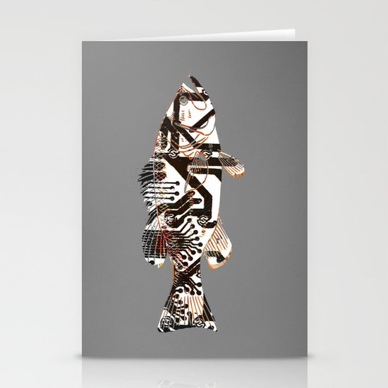 Digital Fish 2 Stationery Cards
