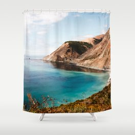 Softly to the Sea in Big Sur, California #ArleneCarley #bohovantravels Shower Curtain