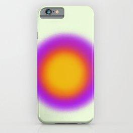 Purple Sun Aura Circle iPhone Case