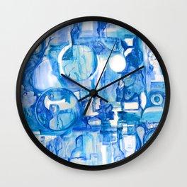 blue III Wall Clock