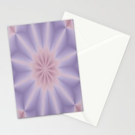 Pink and Lilac 3D Flower Three Stationery Cards