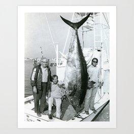 Prize Tuna At Galilee, Narragansett, Rhode Island Art Print