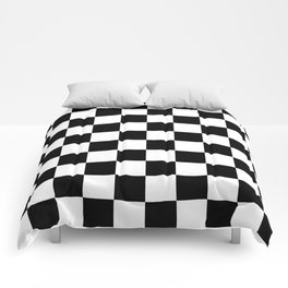 Black & White Checker Checkerboard Checkers Comforters