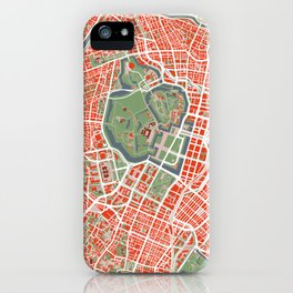 Tokyo city map classic iPhone Case