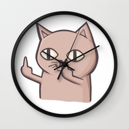 FU Cat Wall Clock