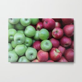 Green and red Apples Metal Print