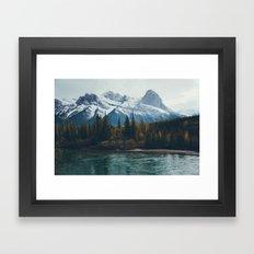 mountain river Framed Art Print