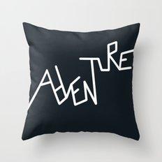 B&W Adventure Throw Pillow