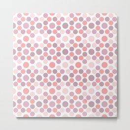 Blushing Dots Metal Print