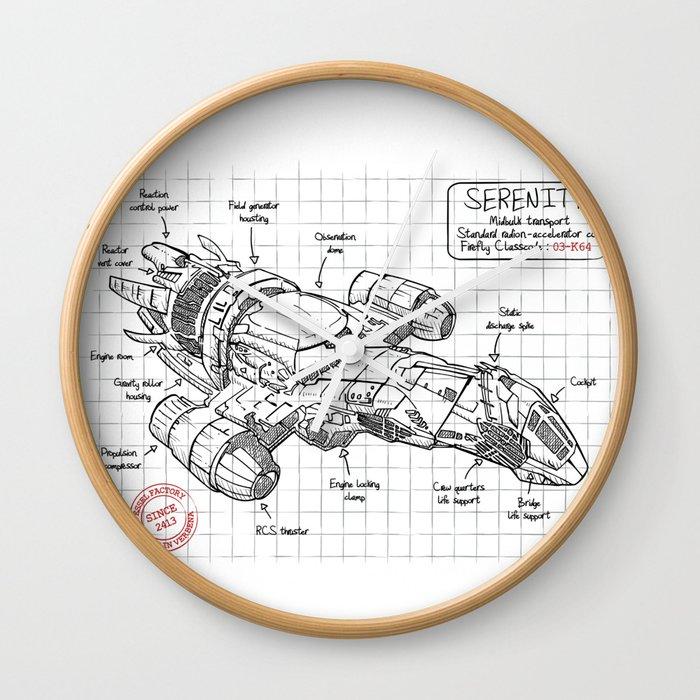 389 engine diagram serenity wall clock by leduc society6  serenity wall clock by leduc society6