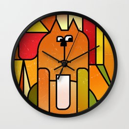 Why is the cat hidden? Wall Clock