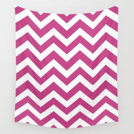 Smitten - violet color - Zigzag Chevron Pattern Wall Tapestry