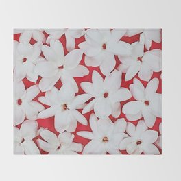 Scattered Jasmine Throw Blanket