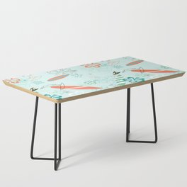 Surfs Up Blue Coffee Table