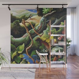 Classical Masterpiece 'the Butterfly Catcher' by Thomas Hart Benton Wall Mural