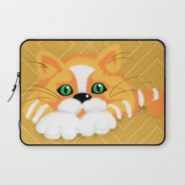 Cute Fluffy Ginger and white cat Laptop Sleeve