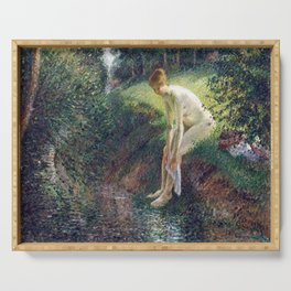Camille Pissarro Bather in the Woods Serving Tray