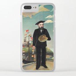 Henri Rousseau - Myself: Portrait – Landscape Clear iPhone Case