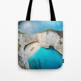 Navagio Shipwreck Beach Tote Bag