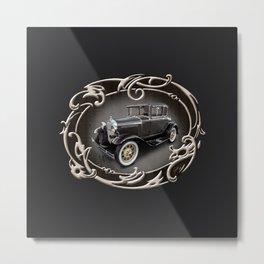 Ford Model A (Frame) Metal Print