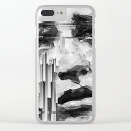 Falling Down by IRRELEVANT VISION™ Clear iPhone Case