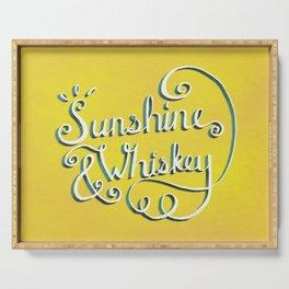 Sunshine & Whiskey Serving Tray