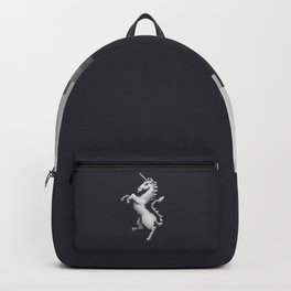 Pixel White Unicorn Backpack