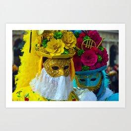 Carnevale of Venice Italy - Masquerade Mask Art Print