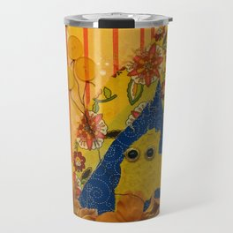 i wonder if the rain loves the trees and fields, that it kisses them so gently? Travel Mug