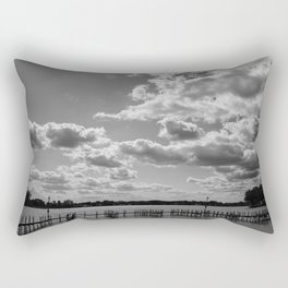 Buckeye Lake B&W Rectangular Pillow