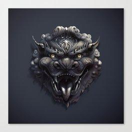 Foo Lion Dog Mask Canvas Print