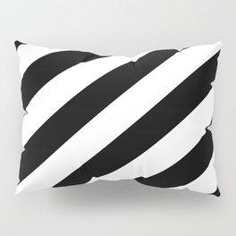 Diagonal Stripes Black & White Pillow Sham