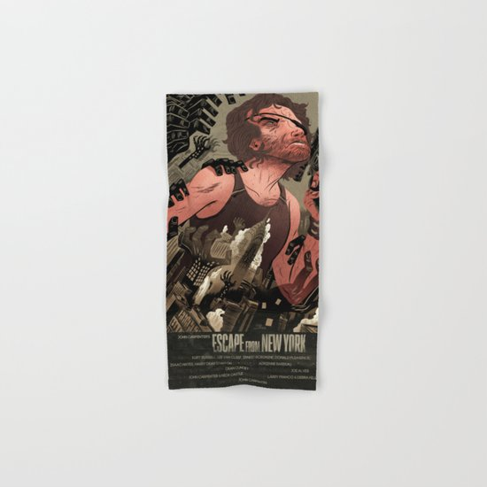 Escape From New York Poster Hand & Bath Towel