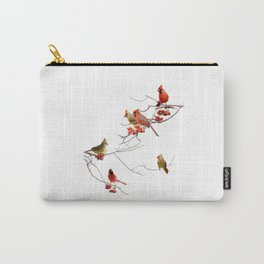 Perching Cardinals Carry-All Pouch