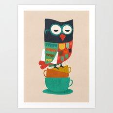 Morning Owl Art Print