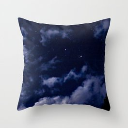 BLUE NIGHT SKY Throw Pillow