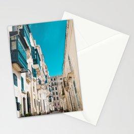 Hidden Street - Valletta, Malta Stationery Cards