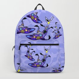 Shark MarineLife Scenery Patterned Backpack