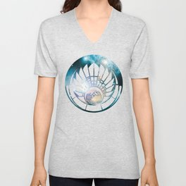 Crop Circle in Space Unisex V-Neck