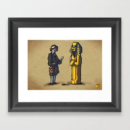 #47 - Laura Bow in The Dagger of Amon-Ra Framed Art Print