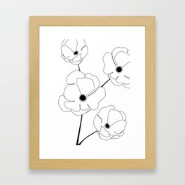Bloomed Flower Framed Art Print
