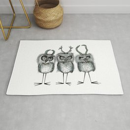 Owls with Horns Rug